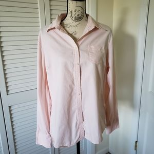 Tommy Hilfiger Pink Button Down Long Sleeves XL